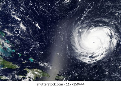 Hurricane Florence heading towards the East Coast of the United States in September 2018 - Elements of this image furnished by NASA