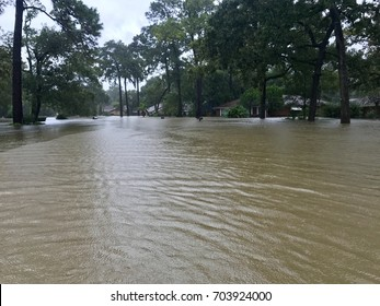 Hurricane Harvey 2017, flooding in Spring Texas, a couple miles north of Houston.