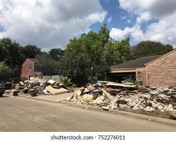 Hurricane Harvey flood damage Houston