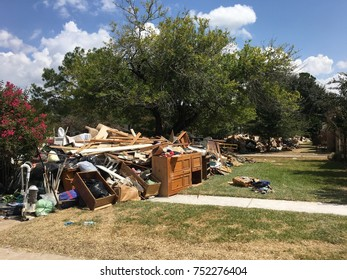 Hurricane Harvey flood damage Houston