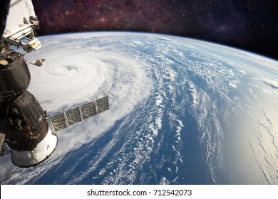 Hurricane Harvey, seen from the International Space Station. Elements of this image are furnished by NASA