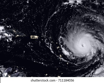 Hurricane Irma seen from the space. Elements of this image are furnished by NASA