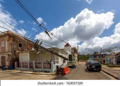 Hurricane Maria damage in Maricao, Puerto Rico 10/8/17