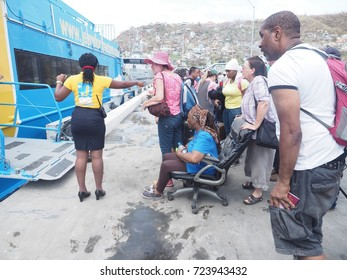 Hurricane MARIA destroyed everything during its passage on the island of Dominica in the Caribbean. The population leaves to the neighboring islands. The 09/18/2017