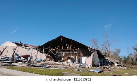 Hurricane Michael devastation in Panama City Florida