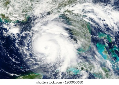 Hurricane Michael heading towards Florida in October 2018 - Elements of this image furnished by NASA