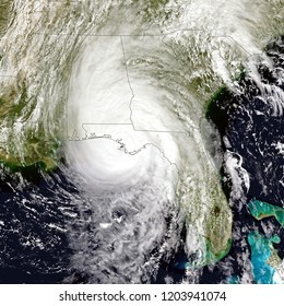 Hurricane Michael made landfall near Mexico Beach, Florida. Elements of this image are furnished by NASA
