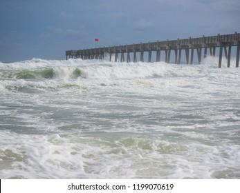 Hurricane Michael Storm Surge - Pensacola Beach, Florida 10/09/18