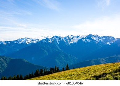 Hurricane Ridge of Olympic National Park in Washington, USA