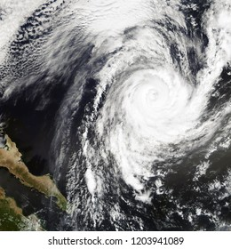 Hurricane Rosa, tropical storm. Elements of this image are furnished by NASA