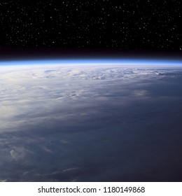Hurricane from space. On earth. The elements of this image furnished by NASA.