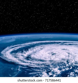 Hurricane from space. On earth. The elements of this image furnished y NASA.
