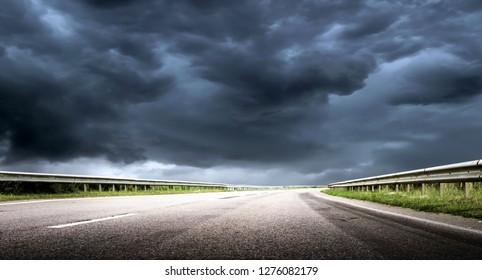 Hurricane tornado road background outdoor