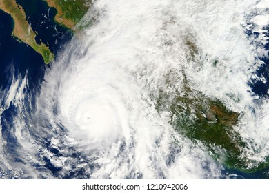 Hurricane Wilma heading towards the West Coast of Mexico in October 2018 - Elements of this image furnished by NASA