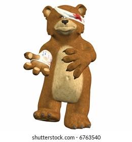 Hurt Bear Cartoon