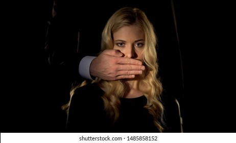 Husband closing wifes mouth, sexual discrimination problem, voting right, sexism