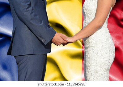Husband and Wife holding hands - Conceptual photograph of marriage in Romania