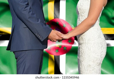 Husband and Wife holding hands - Conceptual photograph of marriage in Dominica