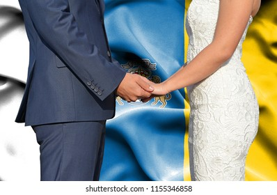 Husband and Wife holding hands - Conceptual photograph of marriage in Canary Islands