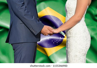 Husband and Wife holding hands - Conceptual photograph of marriage in Brazil