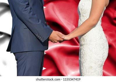 Husband and Wife holding hands - Conceptual photograph of marriage in Bahrain