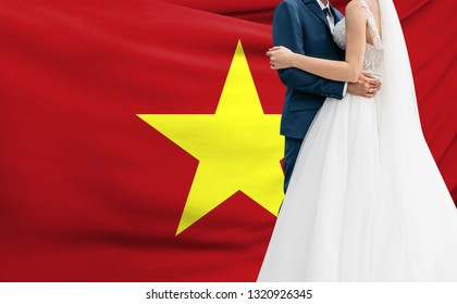 Husband and wife hugging - The concept of marriage in Vietnam