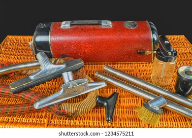 HUSTOPECE, THE CZECH REPUBLIC - NOVEMBER 12, 2018: Vintage vacuum cleaner Electrolux. Electrolux is a famous brand from Sweden. Very popular all over the world.