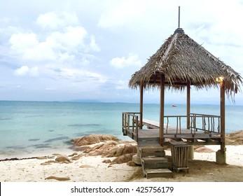The hut at beach in Island