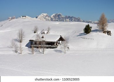 The hut buried in the snow