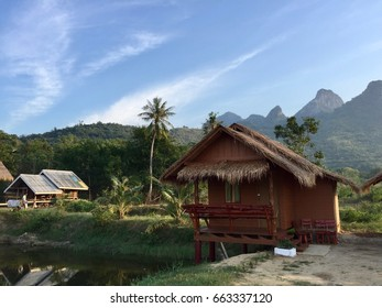 Hut in the countryside in Samroyod, Thailand
