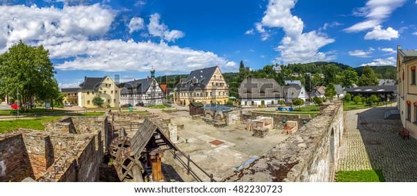 Saigerhütte, hut, Grünthal, Gruenthal, Saxony,