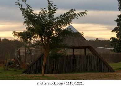 Hut house taken in sunset in Addo Wildlife & Lifestyle Centre