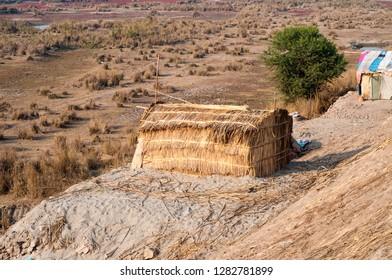 A hut house in the Thar desert