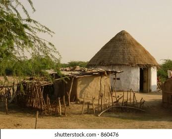 hut in india
