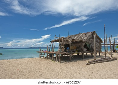 A hut near the beach in Sabah, Malaysia