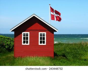 hut on the beach, Denmark