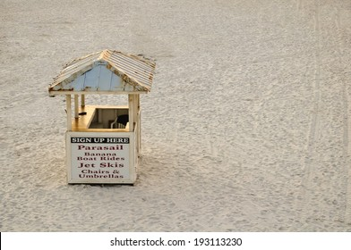 hut on the beach, offering water sport rentals