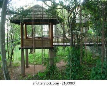 hut at a spa resort in sri lanka