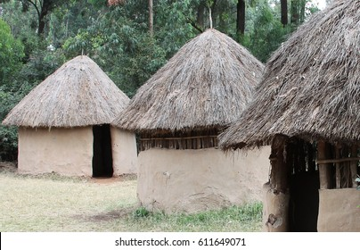 Huts in traditional African village