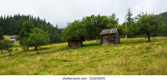 Hutsul Alps. Ukraine border area with Moldova
