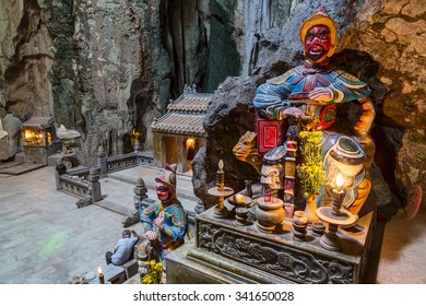 Huyen Khong Cave with shrines, Marble mountains, Vietnam