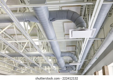 HVAC duct work in a modern building