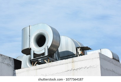 HVAC as Heating Ventilating Air Conditioning. AC-heater. Industrial air conditioning and ventilation systems. Ventilation system.