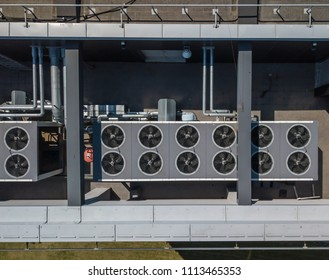 HVAC. Ventilation system on the roof of the building.