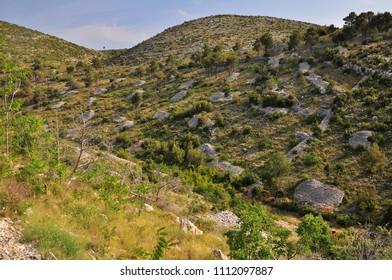 Hvar landscape nature hills