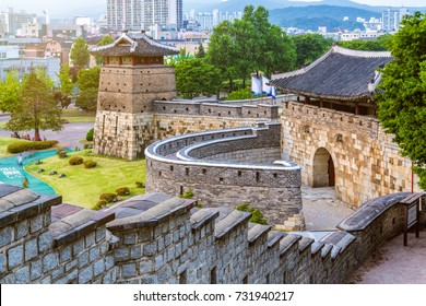 Hwaseong is a fortress of the Joseon Dynasty that surrounds the centre of Suwon City,South Korea.
