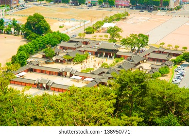 Hwaseong Haenggung Palace is located in the center of Hwaseong fortress, a famous tourist place in Suwon city, South Korea