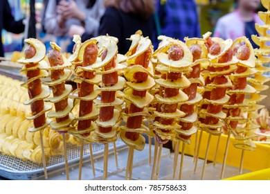 Hweori Gamja (Seoul Street Food)