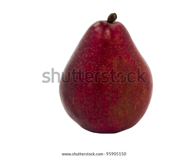 Hybrid Between Apple Pear Isolated On Stock Photo Edit Now 95905150