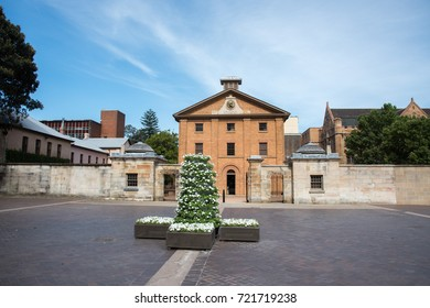 Hyde Park Barracks Museum during spring in Sydney, Australia/Hyde Park Barracks during Spring/SYDNEY,NSW,AUSTRALIA-NOVEMBER 21,2016: Hyde Park Barracks Museum during spring in Sydney, Australia